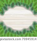 聖誕樹樅樹框架綠色圖 70945914