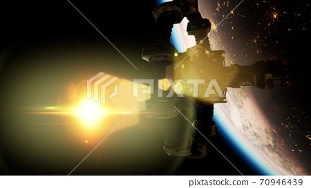 International Space Station over the planet Earth 70946439