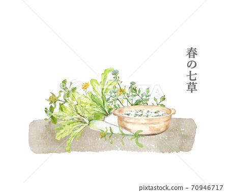 春七藥草七粥水彩畫 70946717