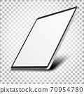 Tablet pc computer with blank screen. 70954780