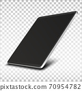 Tablet pc computer with black screen. 70954782