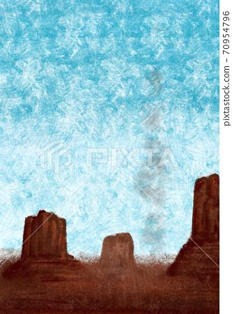 在美國西南部的峽谷的圖像插圖 70954796