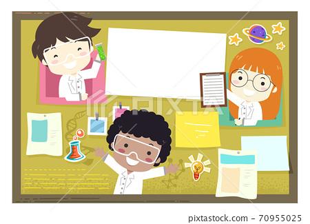 Kids School Science Bulletin Board Illustration 70955025