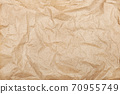 White crumpled paper texture background. 70955749