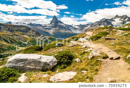 Swiss Alps with the Matterhorn near Zermatt 70959273