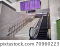 Empty stairway and an escalator at the waiting area 70960223