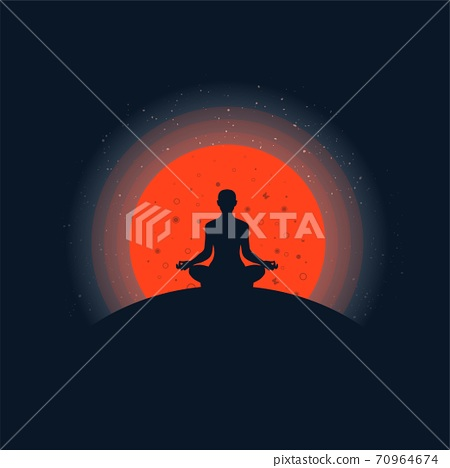 Meditation background with sunset 70964674