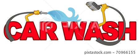 car wash symbol isolated on white. vector illustration 70966155