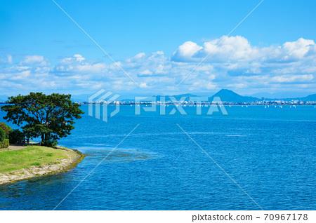 Lake Biwa landscape Omi Fuji 70967178