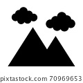 Mountains and clouds 70969653
