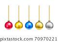 聖誕樹裝飾裝飾球多彩材料 70970221