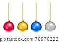 聖誕樹裝飾裝飾球多彩材料 70970222