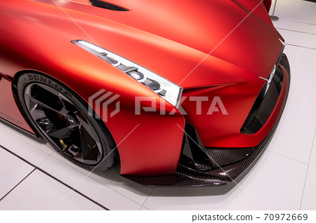 尼桑CROSSING銀座GT-R50碳纖維芥末 70972669