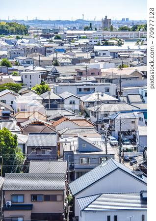 俯瞰人口稠密的住宅區 70977128