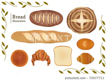 各種麵包的素材說明 70977711