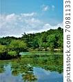 兵库县花卉中心的印象派绘画般的湖畔风光 70981133