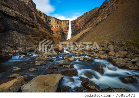 Hengifoss waterfall in East Iceland 70981473