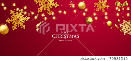 Merry Christmas and Happy New Year background. 70981516