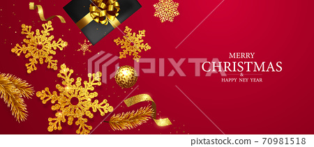 Merry Christmas and Happy New Year background. 70981518