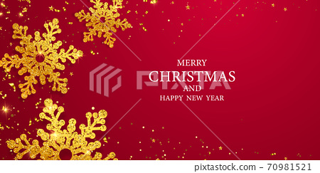 Merry Christmas and Happy New Year background. 70981521