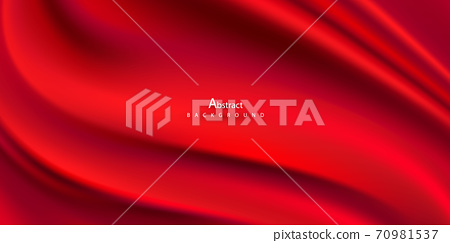 Abstract gradients, fabric red waves banner template background. 70981537