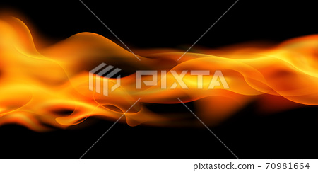 Effect burning red hot sparks realistic fire flames abstract background 70981664