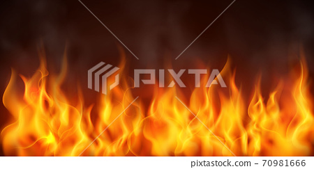 Effect burning red hot sparks realistic fire flames abstract background 70981666
