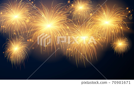 firework and christmas themed Celebration party 2021 Happy New Year 70981671