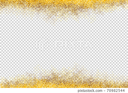 Gold glitter particles isolate on png or transparent  background with sparkling  snow, star light  for Christmas, New Year, Birthdays, Special event, luxury card,  rich style.  illustration  70982544