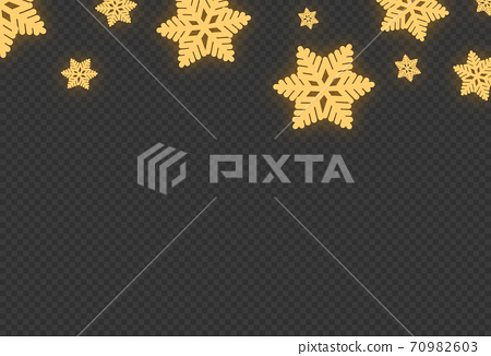 Snowflakes with neon style  ,Christmas decoration isolated  on png or transparent  background, space for text, sale banner template , New Year, Birthdays, illustration vector  70982603