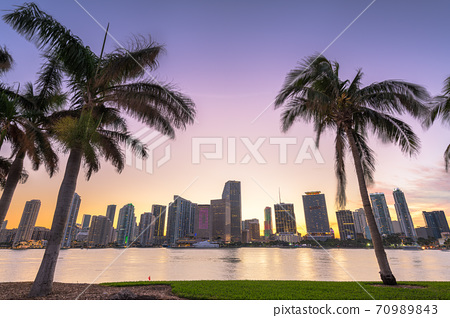Miami, Florida, USA Downtown Skyline on the Bay 70989843