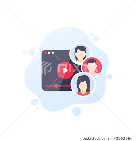 audience, content consumers vector icon 70992966