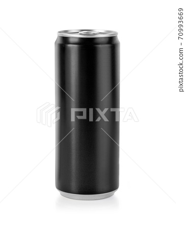 Black Metal Aluminum Beverage Drink Can 70993669