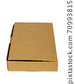 Cardboard box isolated on a white background. 70993815