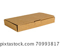 Cardboard box isolated on a white background. 70993817