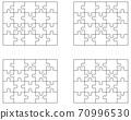 puzzle, jigsaw, vector 70996530