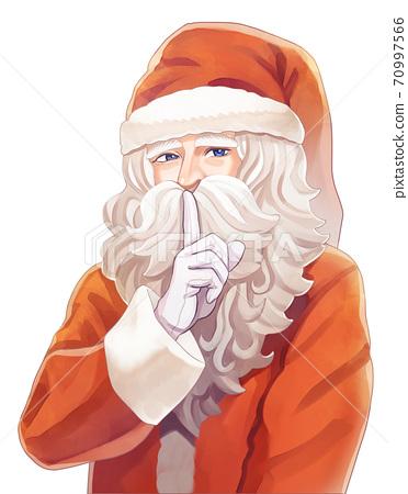 시를하는 산타 클로스의 일러스트 70997566