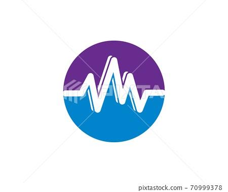 sound wave ilustration logo vector icon 70999378