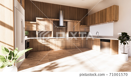 Kitchen room japanese style.3D rendering 71001570