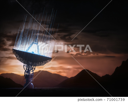 Giant Satellite Dish Signal From Deep Space 71001739