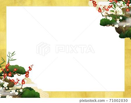 송죽매와 금박의 일본식 프레임 - 여러 종류가 있습니다 71002830