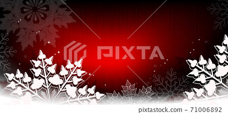 Christmas red background with gradient, gorgeous white snowflakes 71006892