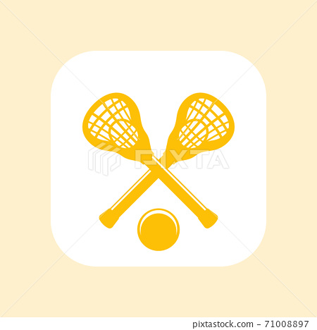 Lacrosse icon, vector sign, sticks and ball 71008897