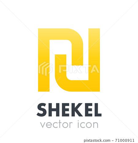 shekel vector icon over white 71008911