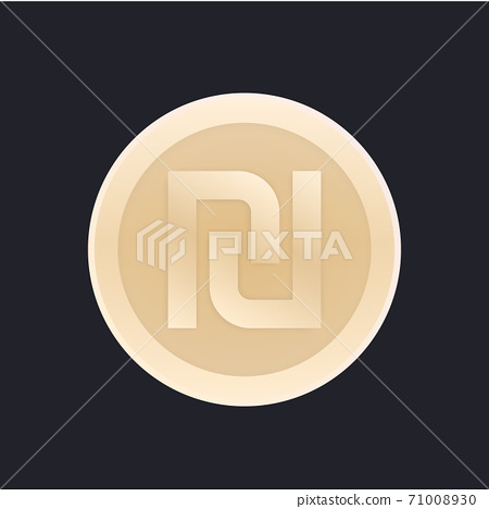 shekel, israeli coin vector icon 71008930