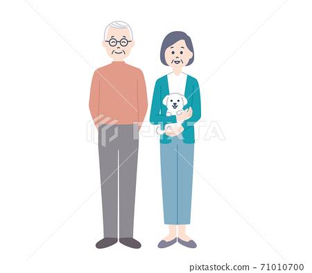 年長夫婦和小狗 71010700