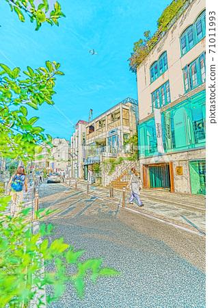 [Anime style] Tokyo cityscape Scenery around Shibuya Cat Street 71011993