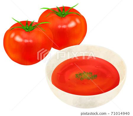 Tomato soup potage 71014940
