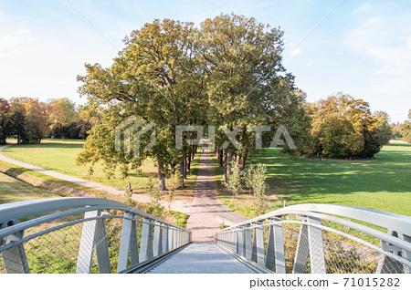 Lane seen from a high steel bridge. 71015282