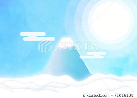 푸른 하늘 속의 후지산 71016139